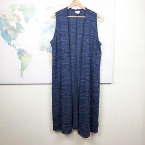 NWT Lularoe Purple Blue Joy Vest Size Medium